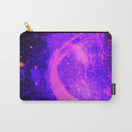 Vivid Violet Purple Abstract Splatter Painting Carry-All Pouch