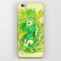 pisces iPhone & iPod Skins featuring pisces by Steven Toang