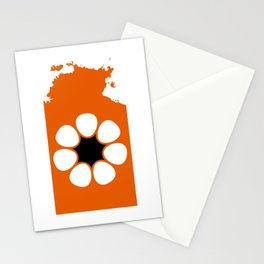 Flag Map of Northern Territory  Stationery Cards