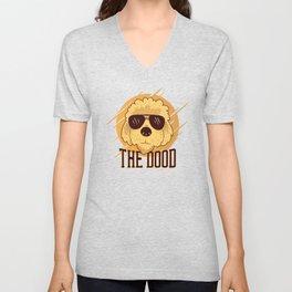 Cool Goldendoodle Dog Unisex V-Neck