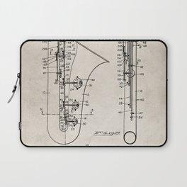 Selmer Saxophone Patent - Saxophone Art - Antique Laptop Sleeve