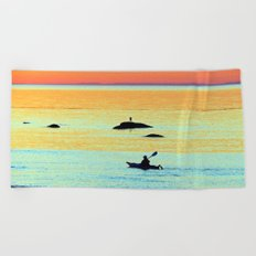 Silhouettes in Colors Beach Towel