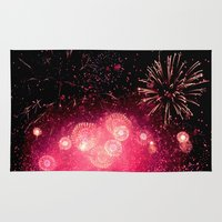 fireworks Area & Throw Rugs featuring Fireworks by Loaded Light Photography