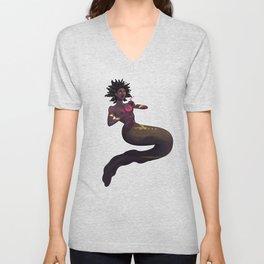 Eel Mermaid with Drink Unisex V-Neck