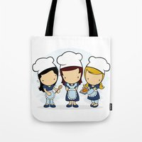 cook Tote Bags featuring Cook by Jaqueline Teixeira