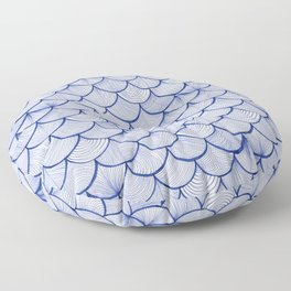 Scalloped Waves Floor Pillow