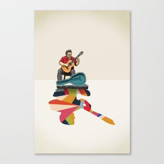 Walking Shadow, Guitarist Canvas Print