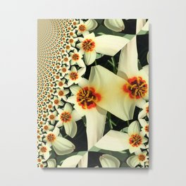 Tulip Fractalated Metal Print