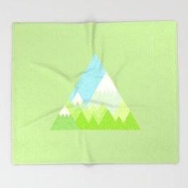 national park geometric pattern Throw Blanket