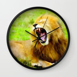 Roaring Lion Wall Clock