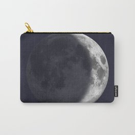 Waxing Crescent Moon on Navy Carry-All Pouch
