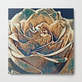 Metalic Rose Metal Print