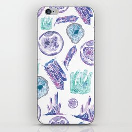 Watercolour Crystals iPhone Skin