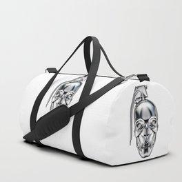 Skull grenade silver Duffle Bag