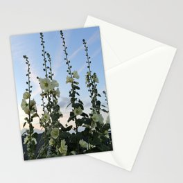 HOLLYHOCK SKY Stationery Cards