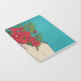 Blooming Red Notebook
