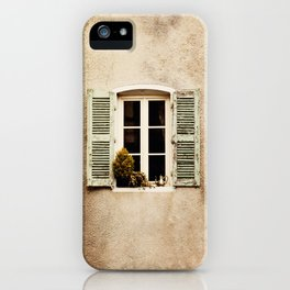 Window with Shutters and Teapot iPhone Case
