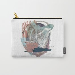 In the Clouds: a minimal mixed media piece in blues, pinks, white, and purple Carry-All Pouch