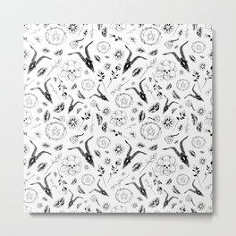 Creepy Cute Floral Occult Print Metal Print