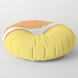 Lines Print Yellow,Orange and White Floor Pillow