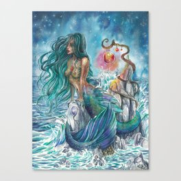 Witch of the oceans Canvas Print