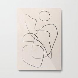 Abstract Line I Metal Print