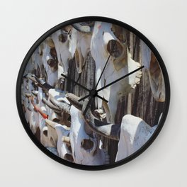Salvage of Skulls Wall Clock