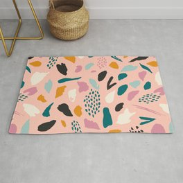 Pink abstraction Rug