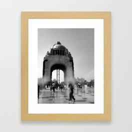 bw monument Framed Art Print