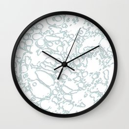 Rainbow Squiggles Paint Pencil Arty Lines Wall Clock