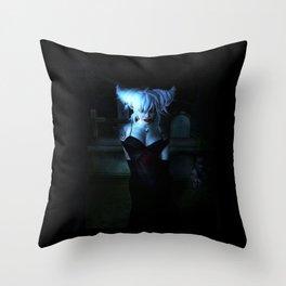 Blue Vamp Throw Pillow