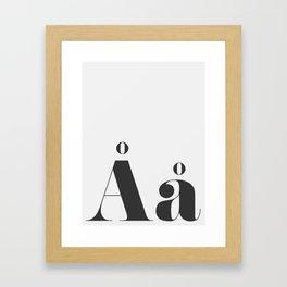 LETTER Framed Art Print
