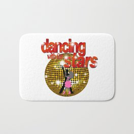 Dancing with the Stars Disco ball Dancers silhouette 2 Bath Mat
