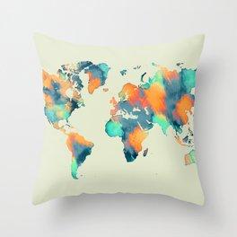 map world map 57 Throw Pillow