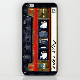 Retro classic vintage gold mix cassette tape iPhone Skin