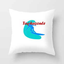 Surfer in Taghazoute Throw Pillow