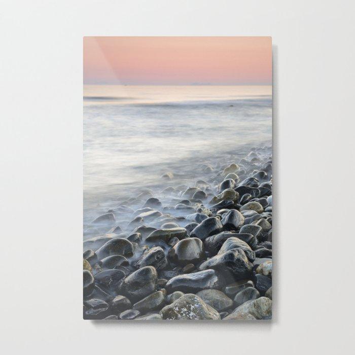 """Bright stones"". Pink sunset Metal Print"