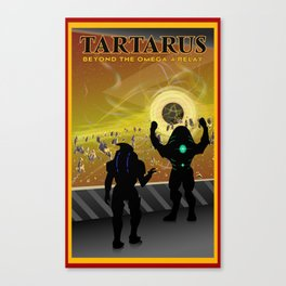 Mass Effect Tartarus Travel Poster Canvas Print