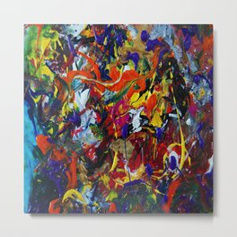 Abstract Experiment Metal Print