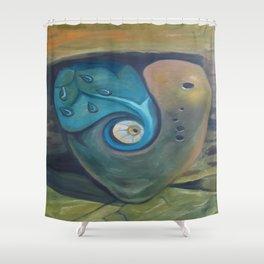 Heart by Lu Shower Curtain