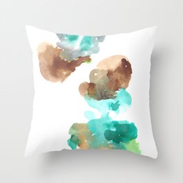 180802 Beautiful Rejection 16| Colorful Abstract Throw Pillow