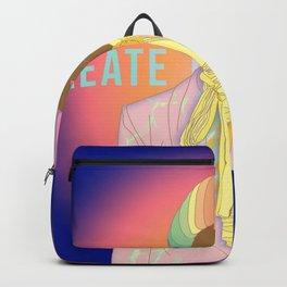 Create The Rainbow | Digital Art | Woman of Color Backpack