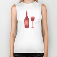 wine Biker Tanks featuring Wine by Cat Coquillette