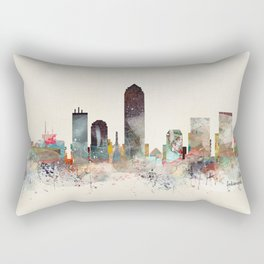 indianapolis indiana skyline Rectangular Pillow