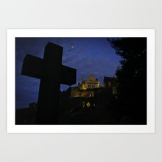 Stirling Castle with Grave in foreground Art Print