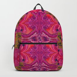 Acrylic Pour Pattern (Orange/Pink) Backpack