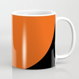 Sexy curves, red and orange, in a black Background. Coffee Mug