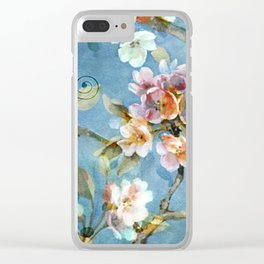 Fantasy cherry blossom tree Clear iPhone Case