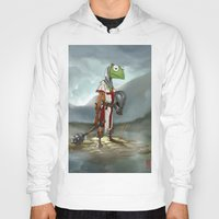 kermit Hoodies featuring Kermit the Knight by Alberto Camara
