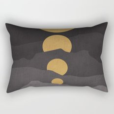Rise of the golden moon Rectangular Pillow